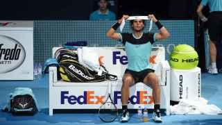 Nadal, este miércoles, en el partido ante Andy Murray.